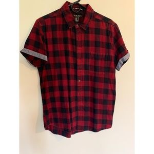 Men's Forever 21 checkered short sleeve shirt